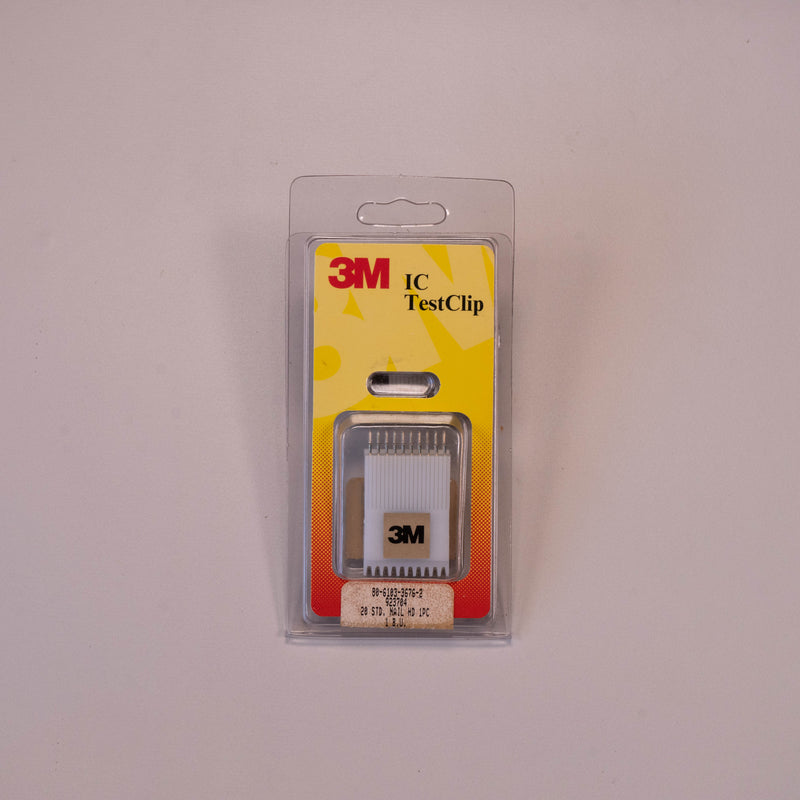"3M 923704 IC Test Clip 20 Pin Test Clip, 0.300"" Test Clip 16 (2 x 10)"