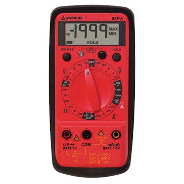 Amprobe 5XP-A Compact Digital Multimeter 10 Functions, 27 Ranges
