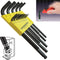 "Bondhus 10937 Ball End Inch Hex Key Set 13 Pieces .050"" to 3/8"""