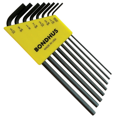 "Bondhus 12132 Inch Hex Key Set (L-Wrenches) 8 Pieces .050"" to 5/32"" - Crawford Tool"