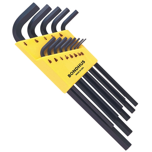 "Bondhus 12137 Inch Hex Key Set (L-Wrenches) 13 Pieces .050"" to 3/8"""