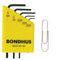 "Bondhus 35393 Micro Mini Inch Hex Key Set (L-Wrenches) 5 Pieces .028"" to 5/64"""