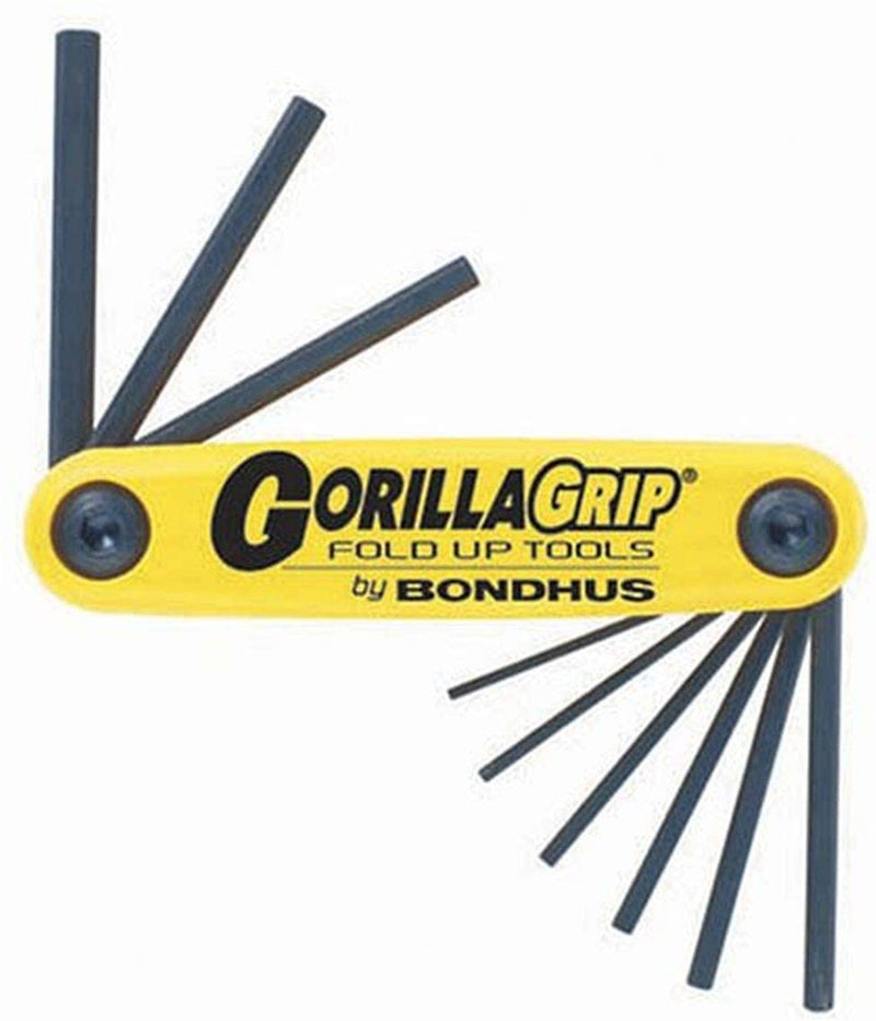 "Bondhus 12591 Gorilla Grip Fold-Up Hex Inch .050"" to 3/16"""