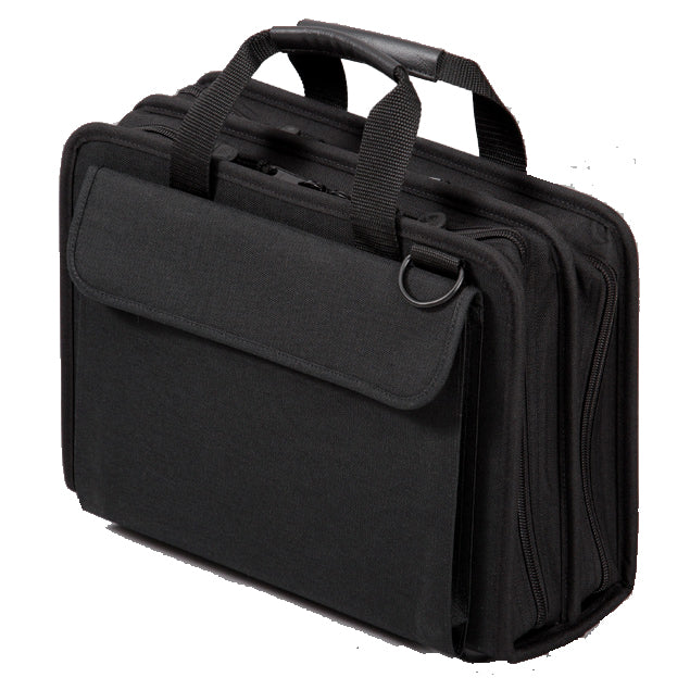 "Crawford CFSD5-BLK Double-Sided 2-Compartment Soft Sided Zipper Tool Case 16"" x 11"" x 5"" 45 Tool Pockets and Parts Pouch"
