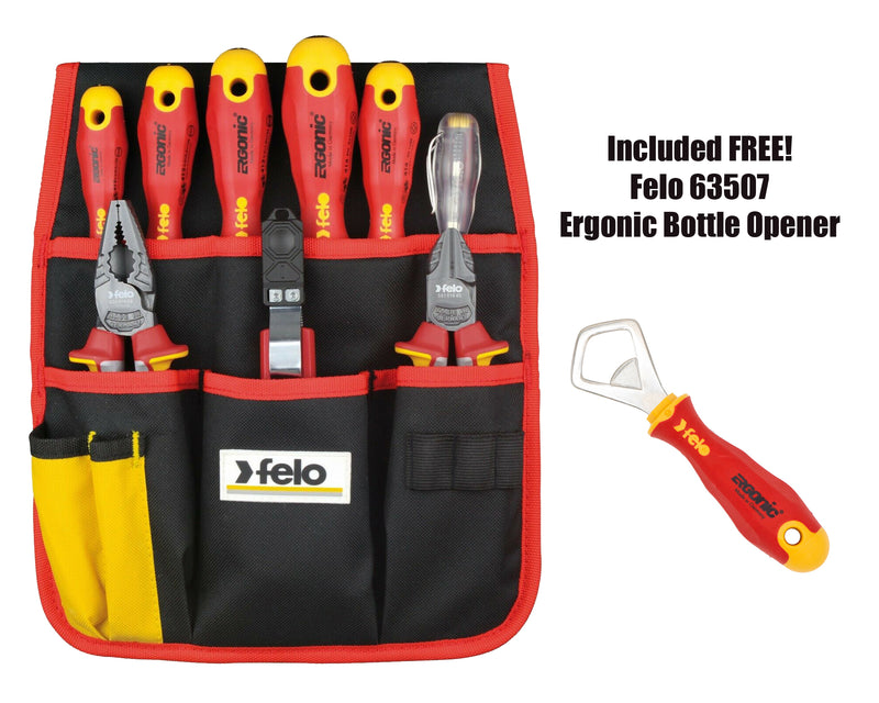 Felo 63859-PBT 9 Piece Insulated Belt Pouch Set with FREE Pro Beverage Tool