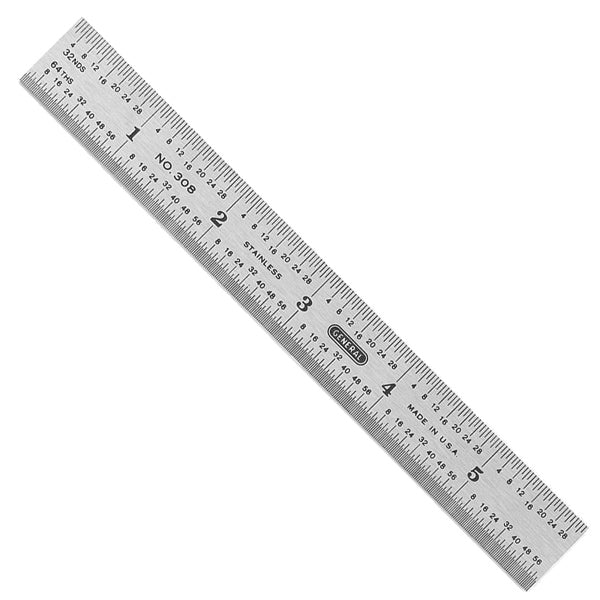 "General Tools 308 6"" Precision Stainless Steel Rule"