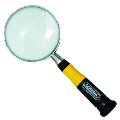 "General 750542 Magnifying Glass 3"" UltraTech Glass Magnifier 3"""