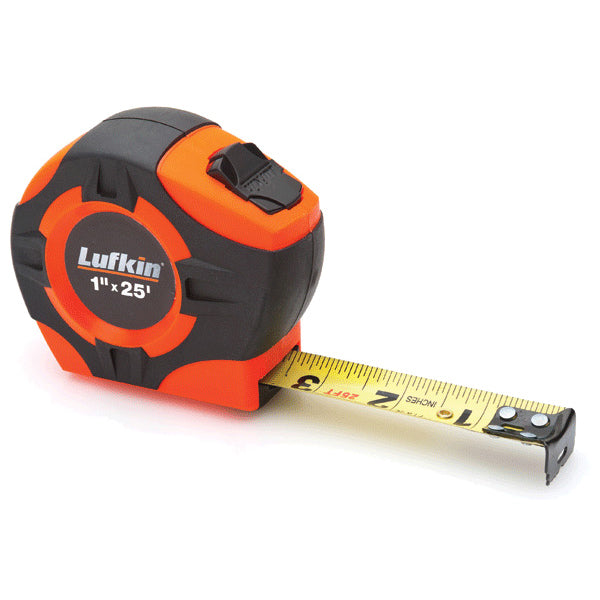 Lufkin PHV1425 High Visibility 25ft Tape Measure with Power Return and Locking Blade