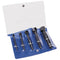 RENNSTEIG 471 900 3 Double-Edged Screw Extractor Set 5 Piece with Vinyl Pouch