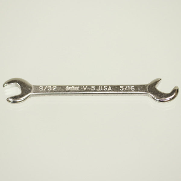 "Vim Tools V-5 Miniature Open-End Wrench 9/32"" + 5/16"" - Crawford Tool"