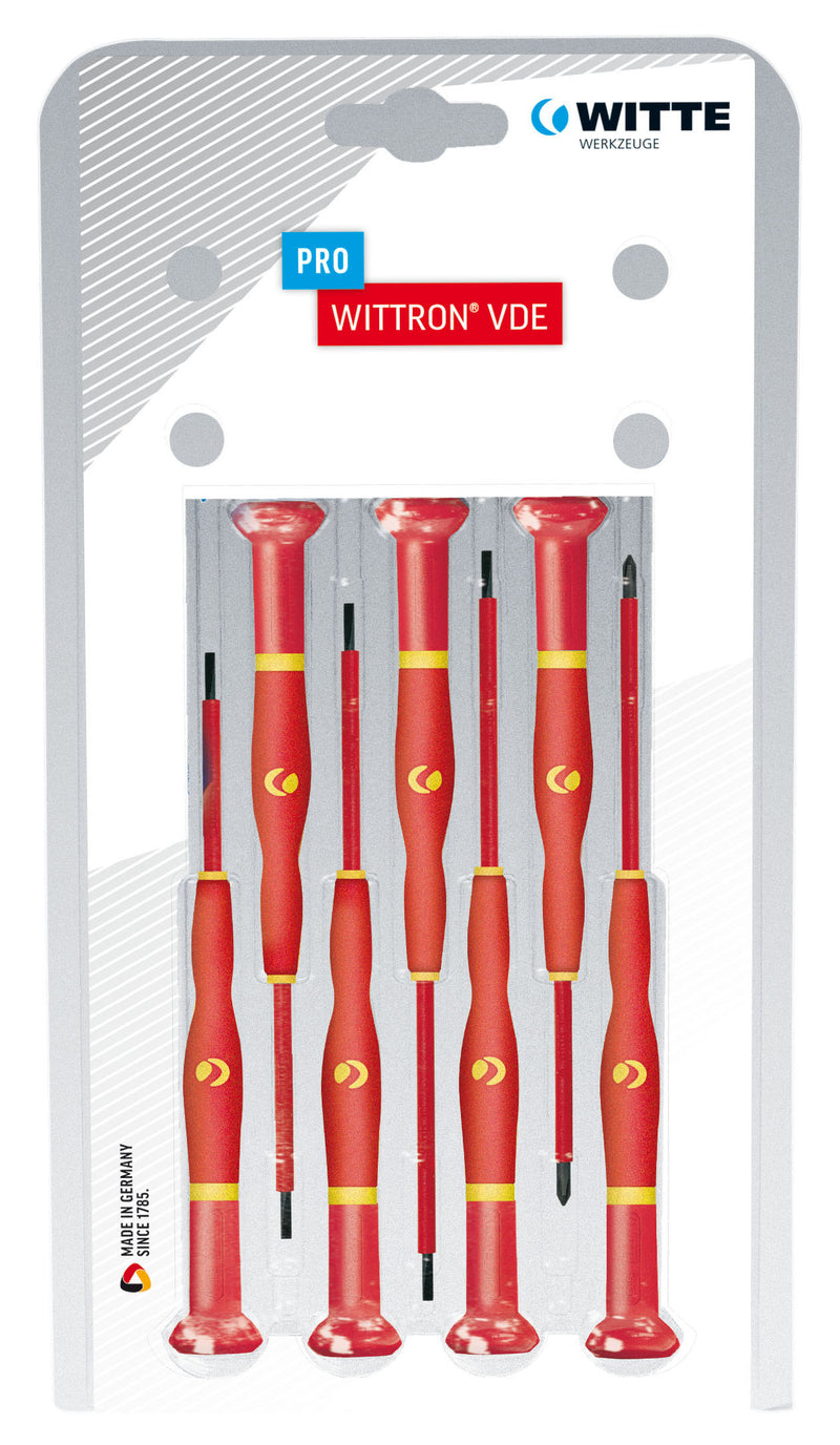 WITTE 89377 WITTRON WITTRON VDE Insulated Precision Screwdriver Set