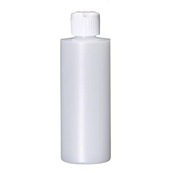 Crawford 65004 4 Ounce Plastic Bottle with Flip Top Cap Natural HDPE Cylinder