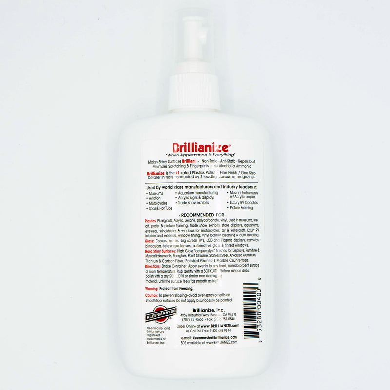 Brillianize No. 8 Plastic Cleaner & Polish 8 oz Pump Spray