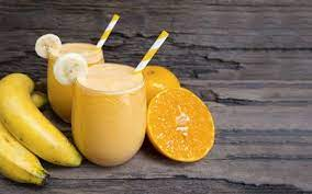 Smoothies with Orange Juice and Bananas For Your Portable Blender