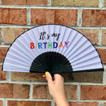 Load image into Gallery viewer, Birthday Fan Birthday Gift Party Favors