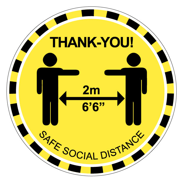 Social Distance MED Floor Decal - 10-Pack