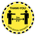Load image into Gallery viewer, Social Distance MED Floor Decal - 10-Pack