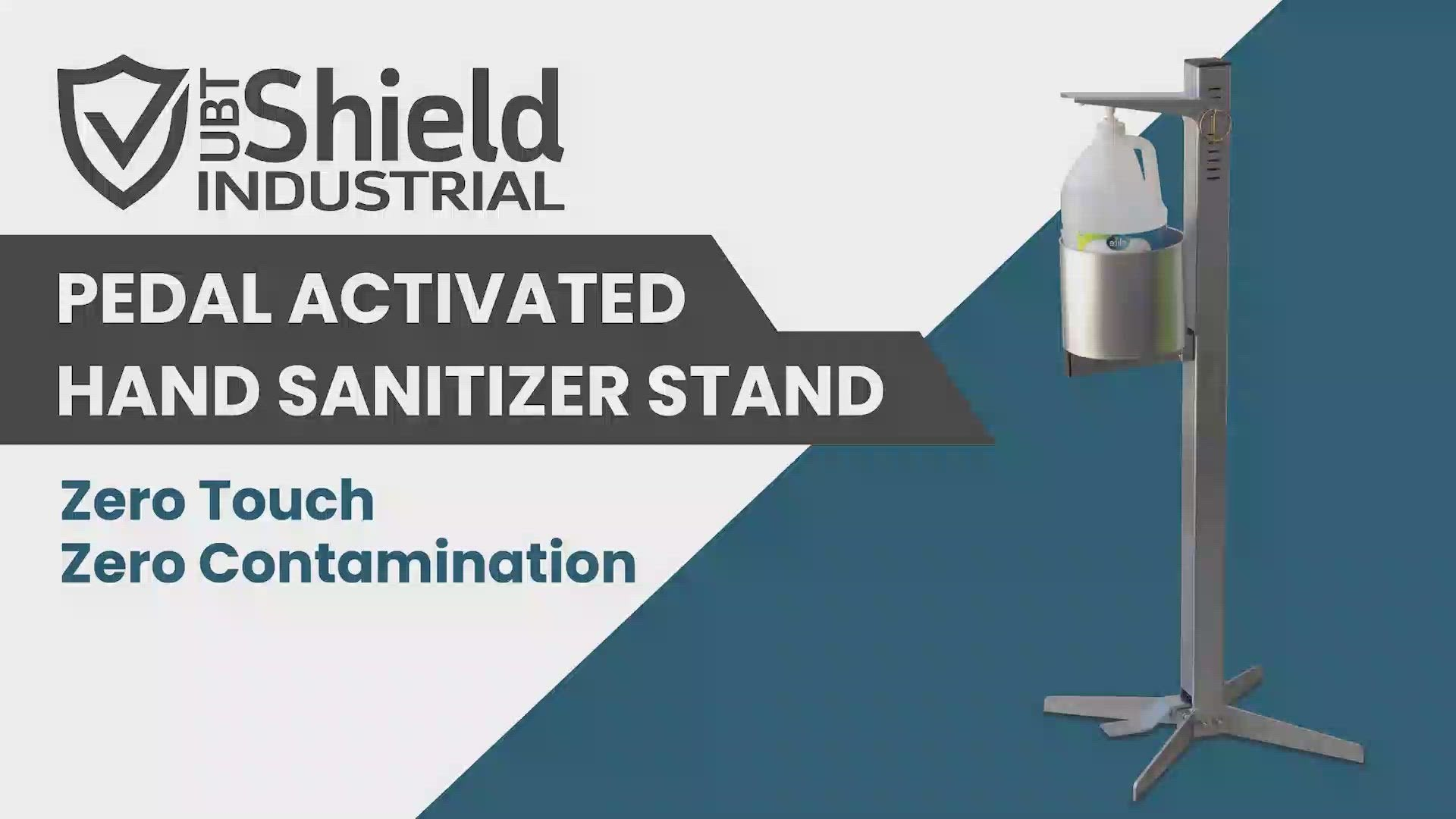 SHIELD Industrial Hand Sanitizer Stand