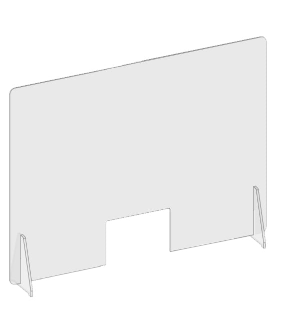"48"" Sneeze Guard – Counter Stand Barrier"