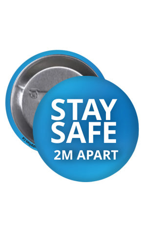 STAY SAFE Buttons - 25-Pack