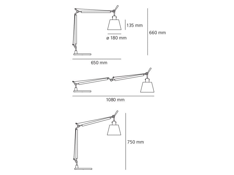 Lámpara Tolomeo Basculante Table