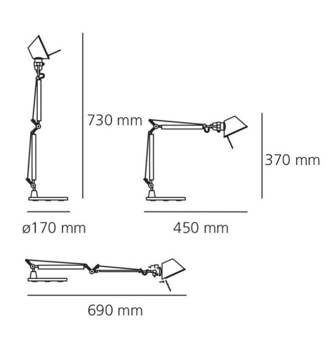 Lámpara Tolomeo Micro LED Table