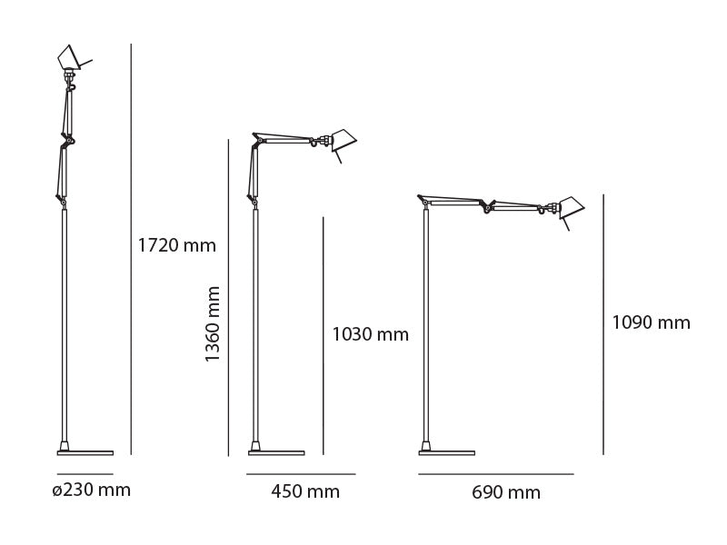 Lámpara Tolomeo Micro LED Floor