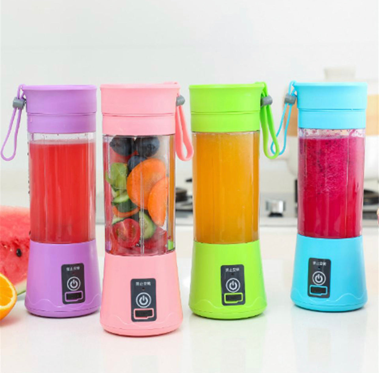 Portable USB Juicer Cup Handheld Rechargeable Fruit Maker Blender 380 ML