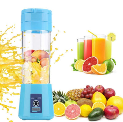 Portable USB Juicer Cup Handheld Rechargeable Fruit Maker Blender 380 ML - Wirelessoneshop