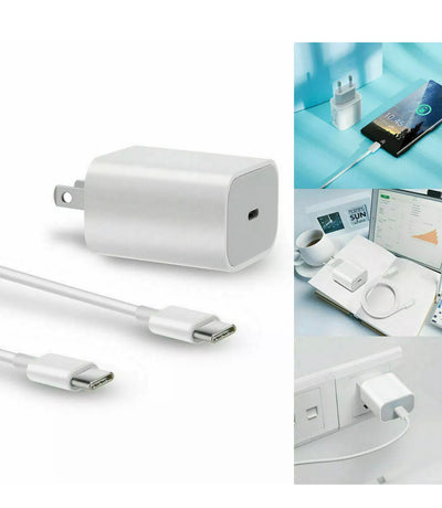 18w Fast Charger USB-C + Power Adapter - Wirelessoneshop