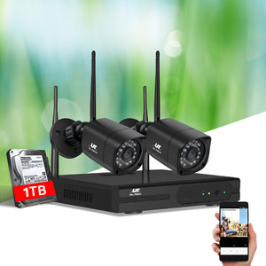 UL-tech CCTV Wireless Security Camera System 4CH Home Outdoor WIFI 2 Square Cameras Kit 1TB