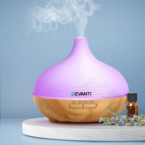 DEVANTi Aroma Diffuser Air Humidifier Night Light 300ml - [HappyShopping.com.au]