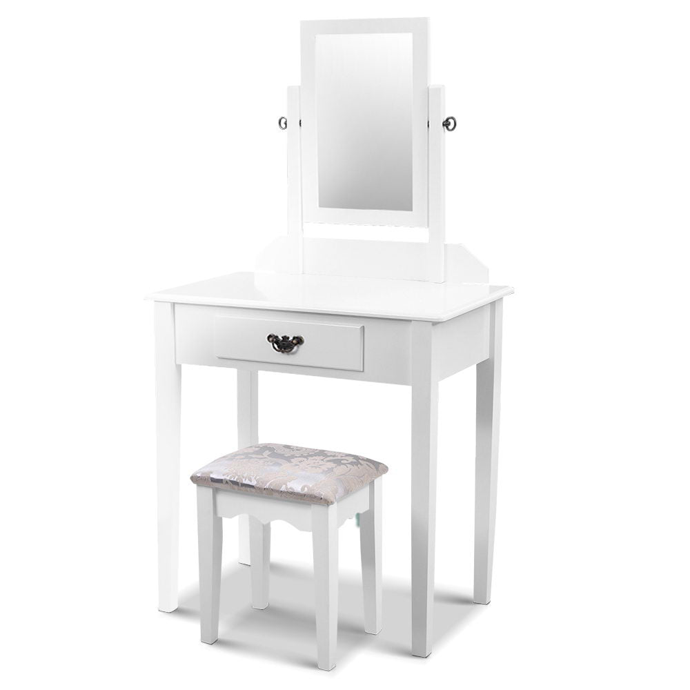 Artiss Dressing Table Stool Set Makeup Mirror Jewellery Cabinet Drawer Organizer