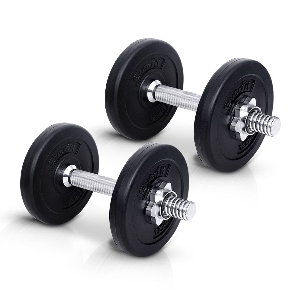 Everfit 10KG Dumbbell Set Weight Dumbbells Plates Home Gym Fitness Exercise