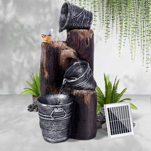 Gardeon Solar Water Fountain Feature Garden Bird Bath Outdoor Pump Panel Battery - [HappyShopping.com.au]
