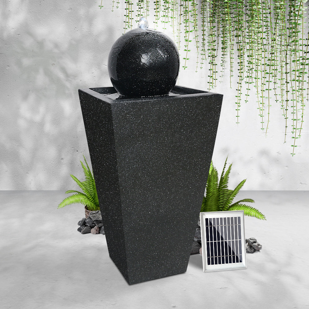 Gardeon Solar Powered Water Fountain - Black - [HappyShopping.com.au]