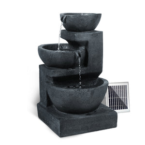 Gardeon Solar Water Fountain with LED Lights - [HappyShopping.com.au]