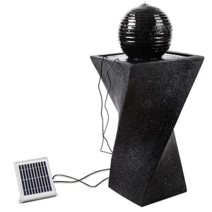 Gardeon Solar Powered Water Fountain Twist Design with Lights - [HappyShopping.com.au]