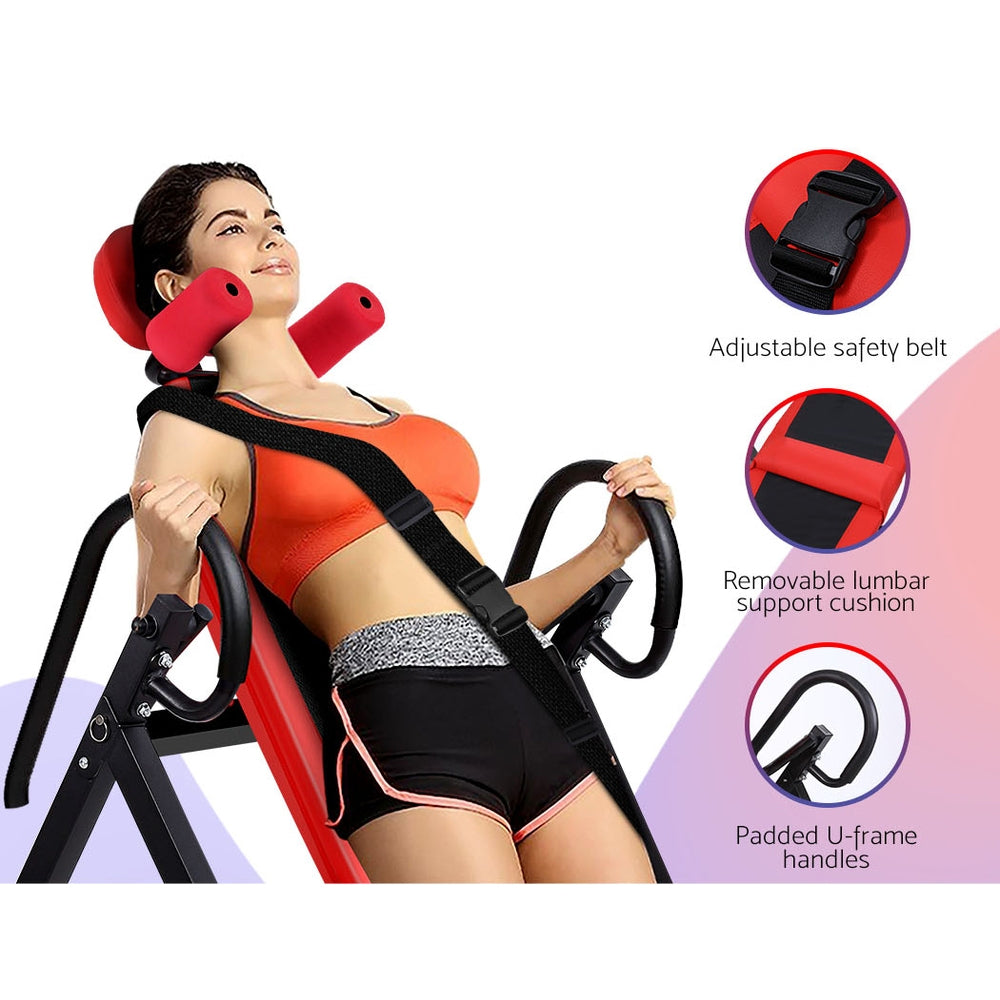 Everfit Inversion Table Gravity Stretcher Inverter Foldable Home Fitness Gym - [HappyShopping.com.au]