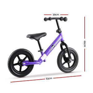 "Kids Balance Bike Ride On Toys Puch Bicycle Wheels Toddler Baby 12"" Bikes Purple - [HappyShopping.com.au]"
