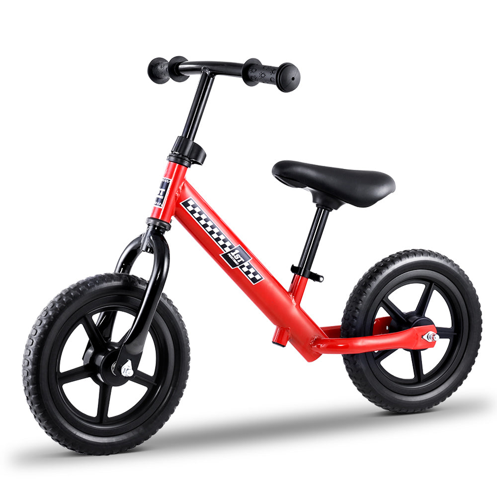 "Kids Balance Bike Ride On Toys Puch Bicycle Wheels Toddler Baby 12"" Bikes Red - [HappyShopping.com.au]"
