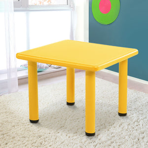 Keezi Kids Table Study Desk Children Furniture Plastic Yellow - [HappyShopping.com.au]