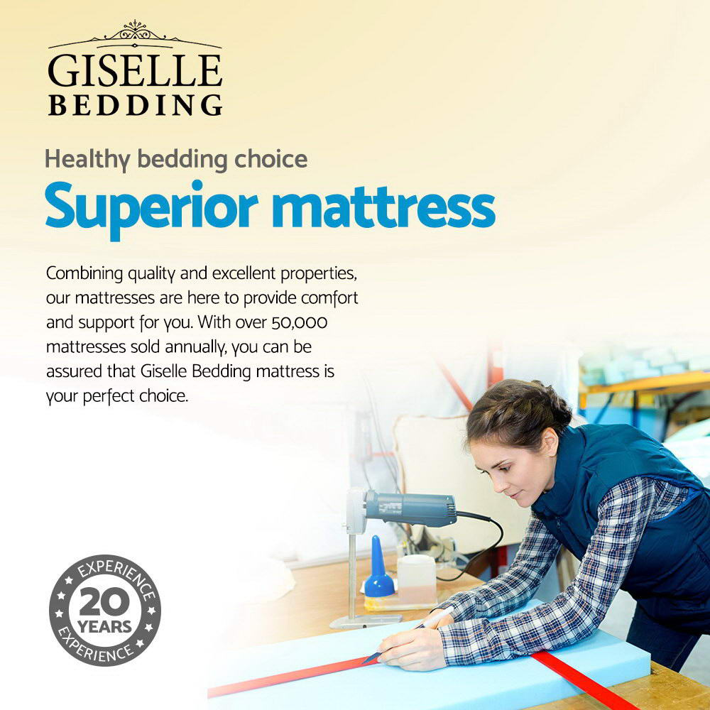 Giselle Bedding Alanya Euro Top Pocket Spring Mattress 34cm Thick – Single