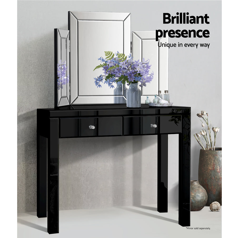 Artiss Mirrored Furniture Console Table Hallway Hall Entry Dressing Side Drawers