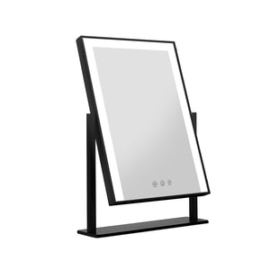 Embellir LED Makeup Mirror Hollywood Standing Mirror Tabletop Vanity Black - [HappyShopping.com.au]