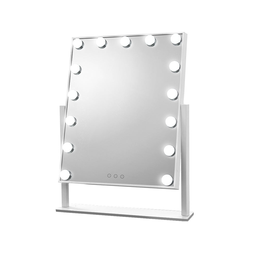 Embellir Hollywood Makeup Mirror with 15 Dimmable Bulb Lighted Dressing Mirror - [HappyShopping.com.au]