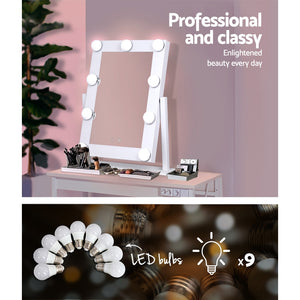Embellir LED Standing Makeup Mirror - White