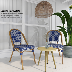 Lana Blue Outdoor Dining Chair Set