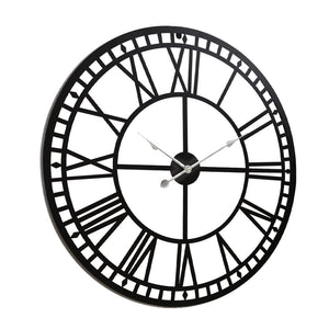 Wall Clock Extra Large Modern Silent No Ticking Movements 3D Home Office Kitchen Decor - 60cm - [HappyShopping.com.au]