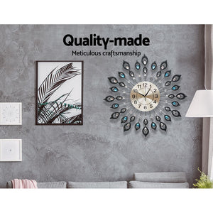 Wall Clock Extra Large Modern Silent No Ticking Movements 3D Home Office Decor - 60cm - [HappyShopping.com.au]